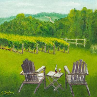 Vineyards Of Sogn Valley Original by Susan Fuglem
