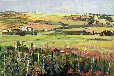 Painting - Vineyards Of Tristo by Juliya Zhukova