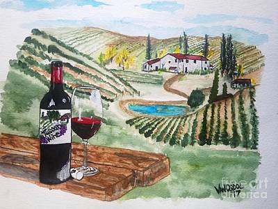 Tuscan Hills Painting - Vineyards Of Tuscany  by Scott D Van Osdol