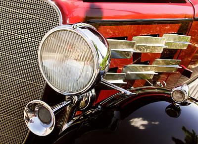 Target Threshold Watercolor - Vintage 1933 Cadillac by Robert VanDerWal
