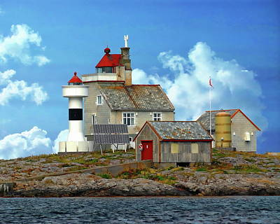 Photograph - Vingleia Lighthouse by Anthony Dezenzio