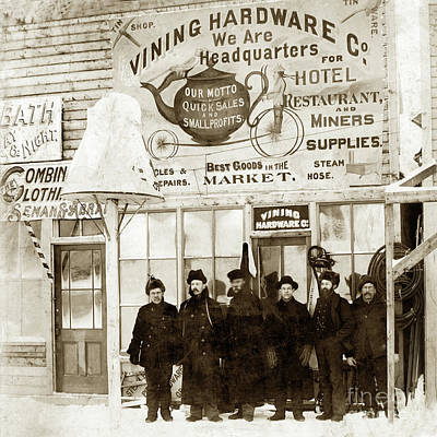 Photograph - Vining Hardware Co. Circa 1898 by California Views Mr Pat Hathaway Archives