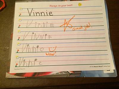 Photograph - Vinnie's Homework by Femina Photo Art By Maggie