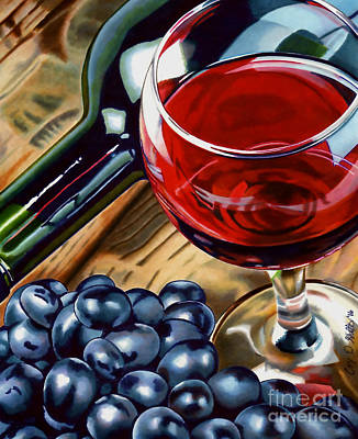 Wine Grapes Drawing - Vino 2 by Cory Still