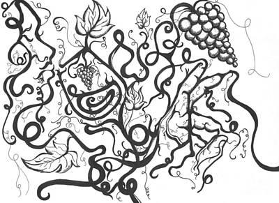 Vinos Drawing - Vino Dream by Kimisha Turner