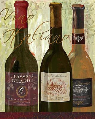Italian Wine Painting - Vino Italiano by Fiona Stokes Gilbert