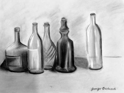 Vinos Drawing - Vino by Jennifer B