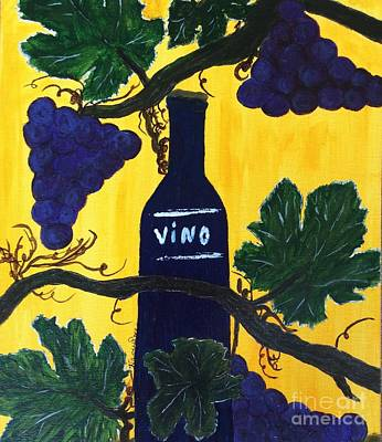 Painting - Vino by Nancy Pace