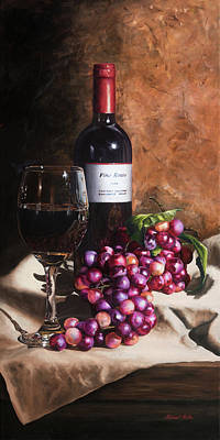 Vino Rosso Art Print by Michael Malta