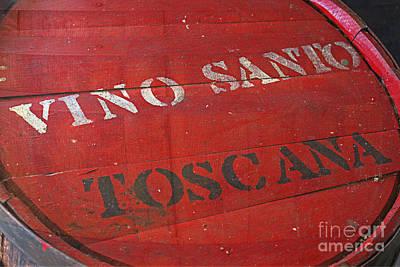 Photograph - Vino Santo Toscana by Ella Kaye Dickey
