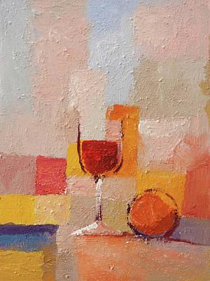 Martini Paintings - Vino Tinto by Arte Costa Blanca