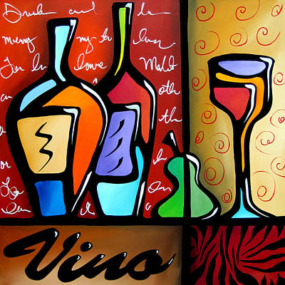 Picasso Mixed Media - Vino by Tom Fedro - Fidostudio