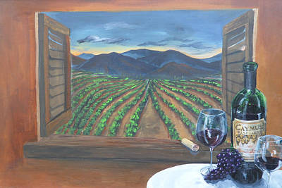 Caymus Painting - Vino by Travis Day