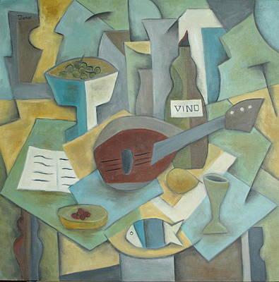 Vino Art Print by Trish Toro
