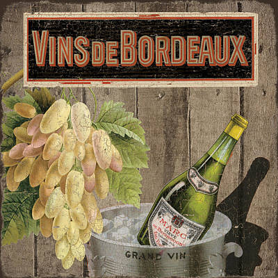 Dinner Mixed Media - Vins Debordeaux by Marilu Windvand