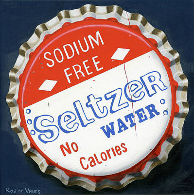 Painting - Vintag Bottle Cap, Seltzer by Rob De Vries