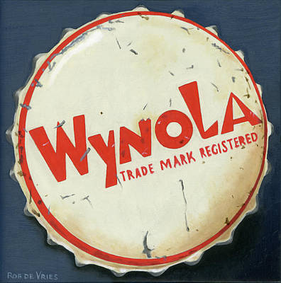 Painting - Vintag Bottle Cap, Wynola by Rob De Vries