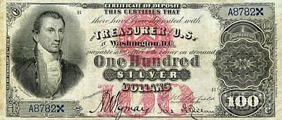 Vintage $100 Bill Circa 1878 Art Print