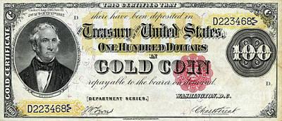 Vintage $100 Bill Circa 1882 Art Print