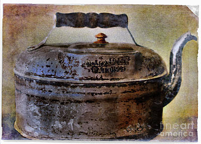Photograph - Vintage 1903 Aluminum Kettle by Nina Silver