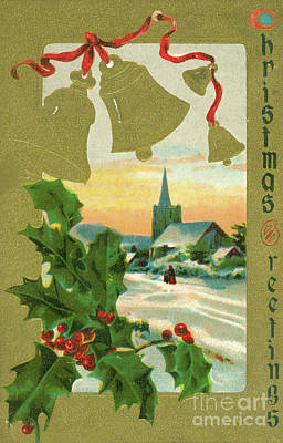 Photograph - Vintage 1915 Christmas Card by Dale Powell