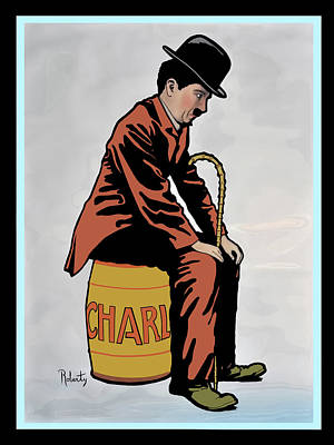 Digital Art - vintage 1917 Charlie Chaplin movie poster by Tom Prendergast