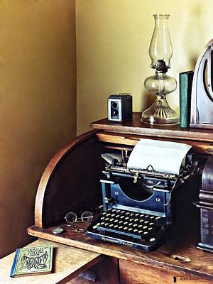 Photograph - Vintage 1920s Typewriter In Home Office by Susan Savad