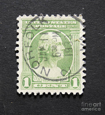 Photograph - Vintage 1932  Postage Stamp With George Washington by Patricia Hofmeester