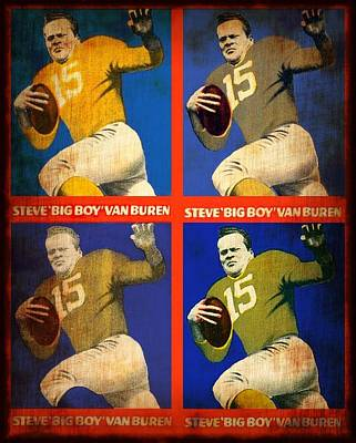 Mixed Media - Vintage 1948 Steve - Big Boy - Van Buren Football Cards by Dan Haraga
