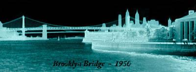 Photograph - Vintage 1950 Brooklyn Bridge Artsy by Marilyn Hunt