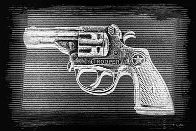 Photograph - Vintage 1950's Cap Pistol Bw Negative by Tony Grider