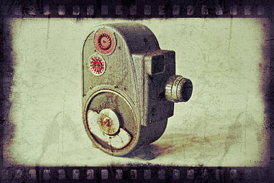 Photograph - Vintage 1950's Movie Camera by Tony Grider