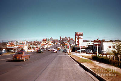 Photograph - Vintage 1950s view of Congress Avenue looking north from South Congress to the Capitol by Austin Welcome Center