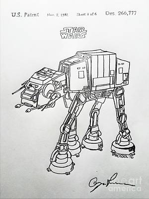 Vintage 1982 Patent At-at Star Wars - Original Original