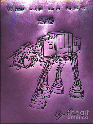 Vintage 1982 Patent At-at Star Wars - Purple Glow Original
