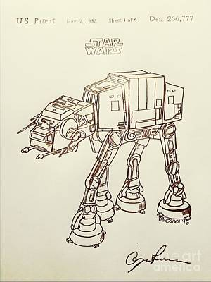 Vintage 1982 Patent At-at Star Wars - Vintage Original