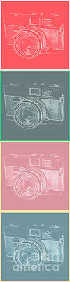 Photo Royalty Free Images - Vintage 35mm Film Camera Pop Art Totem Royalty-Free Image by Edward Fielding