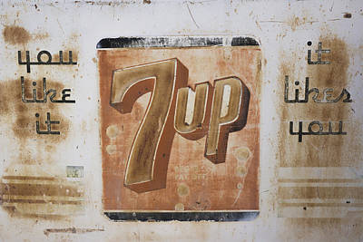 Art Print featuring the photograph Vintage 7 Up Sign by Christina Lihani
