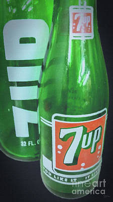Photograph - Vintage 7up Large Canvas Art, Canvas Print, Large Art, Large Wall Decor, Home Decor, Photography by David Millenheft