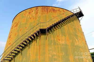 Photograph - Vintage Abandoned Storage Tank by Yali Shi