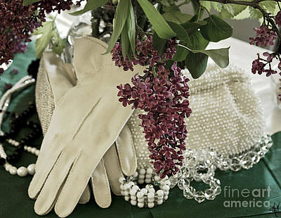 Beaded Gloves Photograph - Vintage Accessories by Victoria Harrington