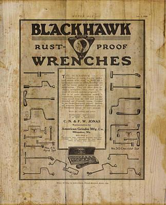 Mechanics Digital Art - Vintage Ad Blackhawk Wrenches by Cynthia Decker