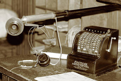 Photograph - Vintage Adding Machine by Brian Pflanz