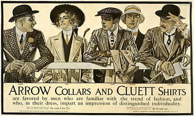 Digital Art - Vintage Advert Collars And Shirts 2 by Phat Artz