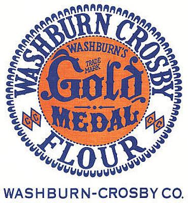 Digital Art - Vintage Gold Medal Flour Ad by ReInVintaged