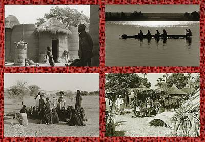 Photograph - Vintage African Images by Yali Shi