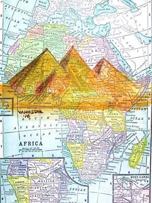 Vintage African Map Original by Scott D Van Osdol