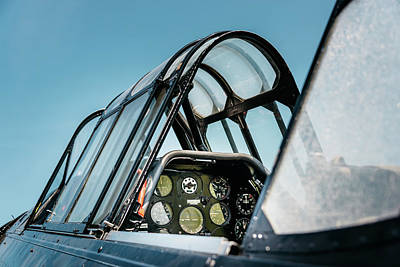 Photograph - Vintage Airplane Cockpit by Dutourdumonde Photography