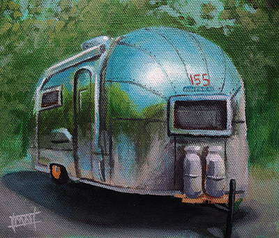 Airstream Trailer Painting - Vintage Airstream by Madi  Grubb