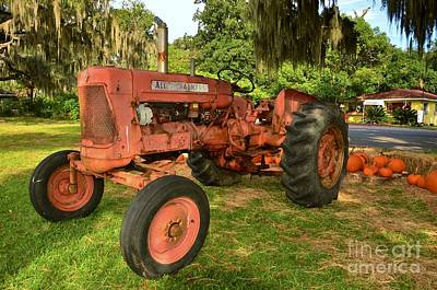 Photograph - Vintage Allis Chalmers Tractor by Bob Sample